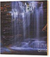 Falls And Log Wood Print