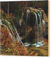Falls At Hanging Lake Wood Print