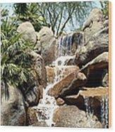 Falls At Jackalope Ranch 2 Wood Print