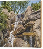 Falls At Jackalope Ranch Wood Print