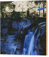 Falls Beneath Old Hickory Wood Print
