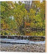 Falls Fall-2 Wood Print by Baywest Imaging