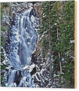 Falls Freezing Wood Print