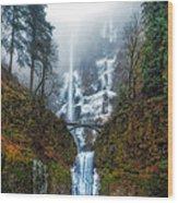 Falls Of Heaven Wood Print