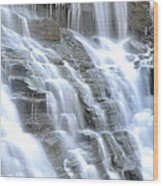 Falls Of Illumination Wood Print