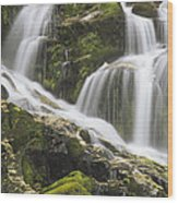 Falls On Sauk River Washington Wood Print