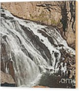 Falls On The Gibbon River In Yellowstone National Park Wood Print