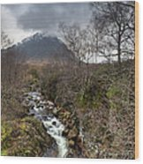 Falls On The River Coupall Wood Print