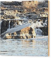 Falls Park Waterfalls Wood Print