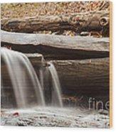 Falls Through A Tree Wood Print