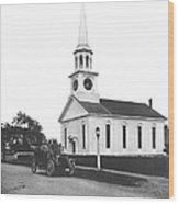 Falmouth Church In Hyannis Wood Print