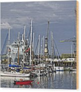 Falmouth Harbour And Docks Wood Print