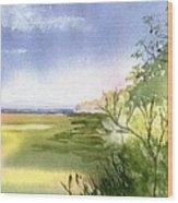 Falmouth View Wood Print