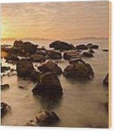 False Bay Sunrise Wood Print by Aaron Bedell