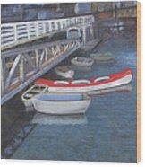 False Creek Ferry Landing Wood Print by Brenda Salamone