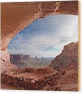 False Kiva In Canyonlands National Wood Print