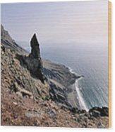 Famara Cliffs On Lanzarote Wood Print