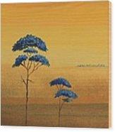 Famboyanes Azules Wood Print
