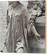 Famiglia Cavaliere Del Francesco Canti Memorial Marker Detail I  Wood Print