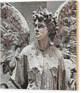 Famiglia Cavaliere Del Francesco Canti Memorial Marker Detail IIi Monumental Cemetery Wood Print