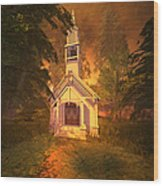 Family Chapel Wood Print