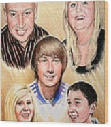 Family Collage Commissions Wood Print