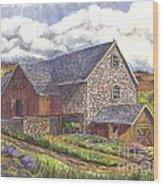 A Scottish Farm  Wood Print