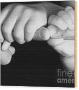 Family Hands  Wood Print by Ofer Zilberstein