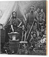 Family Housing For 31st Penn Infantry Fort Slocum Washington Dc 1861 Wood Print