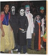 Family Of Ghouls Halloween Party Casa Grande Arizona 2005 Wood Print