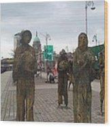 Famine Monument Dublin Ireland Wood Print