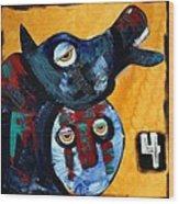 Famine - The Black Horse Wood Print