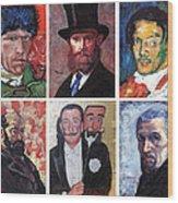 Famous Artist Self Portraits Wood Print