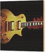 Famous Guitar Wood Print by Patricia Januszkiewicz