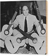Famous Guitarist Carlos Montoya 1953 Wood Print