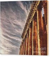 Famous Jupiter Columns Wood Print