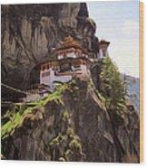 Famous Tigers Nest Monastery Of Bhutan 12 Wood Print