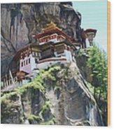Famous Tigers Nest Monastery Of Bhutan 7 Wood Print