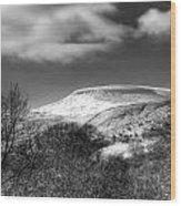 Fan Fawr Brecon Beacons 1 Mono Wood Print