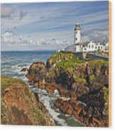 Fanad Lighthouse Donegal Ireland Wood Print