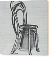 Fanback Parlor Chair Wood Print