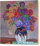 Fanciful Bouquet Wood Print
