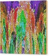 Fanciful Colors  Abstract Mosaic Wood Print