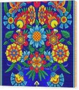 Fancy Blooms Bouquet Wood Print