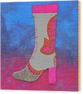 Fancy Boot Wood Print