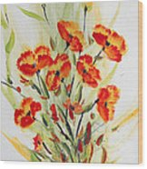 Fancy Flowers Wood Print