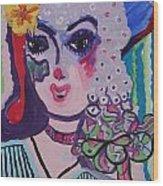 Fancy Girl Wood Print