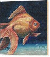 Fancy Goldfish Wood Print by Linda L Martin