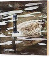Fancy Goose Wood Print