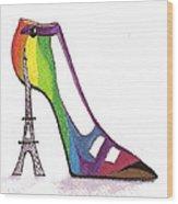 Fancy Parisian Shoe Wood Print